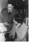Richard Wright and Vivian Harsh (ca. 1936)